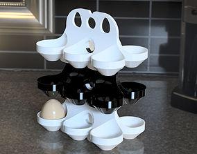 egg shelf stackable 3D print model