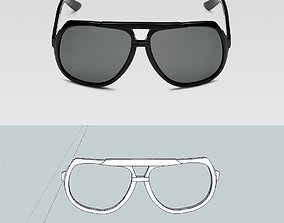 Gucci inspired sunglasses 3D print model