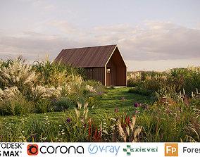 Miscanthus grass collection - Include GrowFX 3D model 2