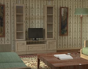 3D model Studio scene with vintage interior
