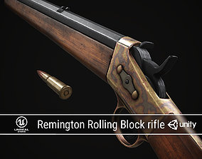 PBR Remington Rolling Block rifle 3D asset