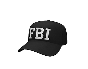 3D asset FBI Cap