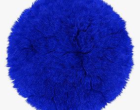 3D model Blue round rug