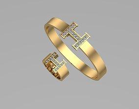 Hermes rings and bracelets NN073 3D printable model