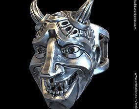 3D print model Demon skull vol3 ring