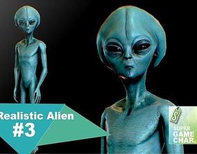 3D model Realistic Alien 3