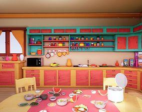 3D model Asset - Cartoons - Background 02 - Hight Poly
