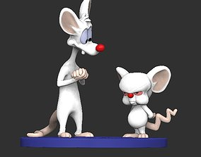 pinky and the brain model 3D printable