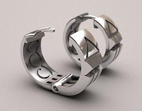 Atlantis earrings - original 3D printable model