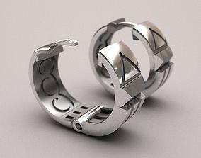 Atlantis earrings 3D printable model