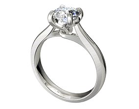 Engagement Ring Solitaire Model Ready For 3D 1