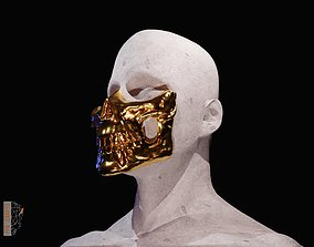 3D print model Higgs mask from Death Stranding