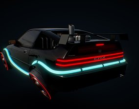 Hover car 3D model speed