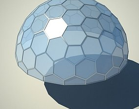 3D Metallic structure truss 07 Dome