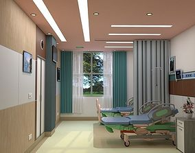 interior 2-Bed Hospital Room 3D model