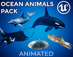 3D asset Ocean Animals Pack UE4 - Vol 1