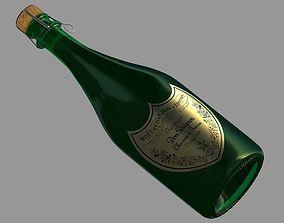 Champanger Bottle -Dom Perignon- 3D