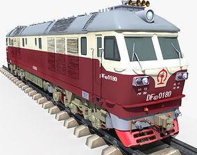 Dongfeng 4D Diesel Locomotive 3D model