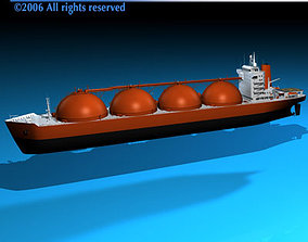 Gas ship 3D model
