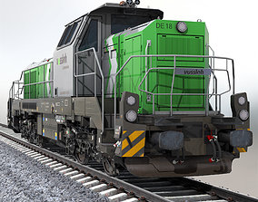 transport 3D asset game-ready Locomotive