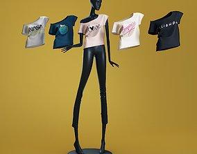 Mannequin 6014 coll 60 tshirt 02 3D model