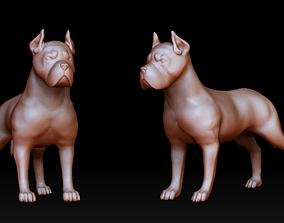 3D printable model Pitbull figurine