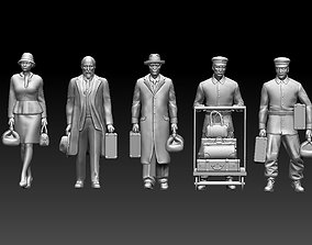railroad passengers 3D print model