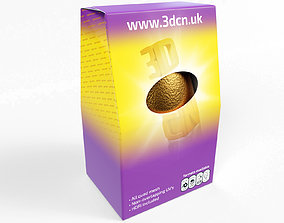 130g Milk Chocolate egg in a carton 3D model