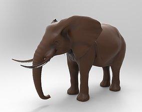 3D printable model elephant rigged