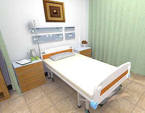 Hospital Ward and Hallway 3D model