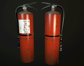 Fire Extinguisher 3D asset game-ready