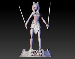 Ahsoka Tano from Clone Wars series 3D print model