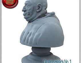 Da Vinci Heads No 1 STL Printable