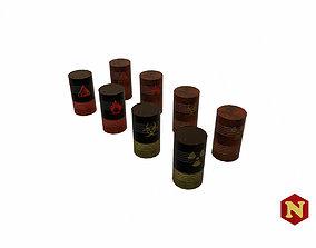 Barrels Set 3D model