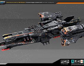 Federation Frigate K6 3D model game-ready