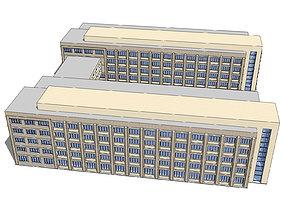 Office-Teaching Building-Canteen 71 3D