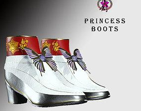 3D asset Princess Boots