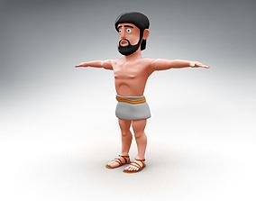 Odysseus cartoon character 3D model