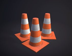 3D asset game-ready Traffic Cone