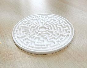 3D printable model Maze Coaster