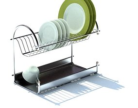 3D model Modern Dish Drying Rack
