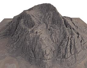 Mountain Desert Low Poly Terrain Rock - 4 OBJ 3D model
