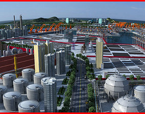 3D Refinery Port Harbour collection 3