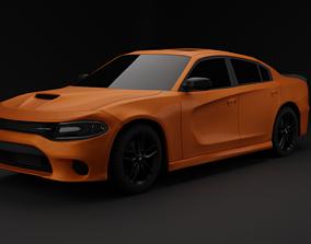 3D Dodge Charger 2019 Grand Turismo orange metallic
