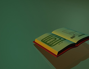 books 3D model VR / AR ready