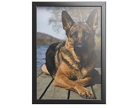 photodog 3d model Photo Frame