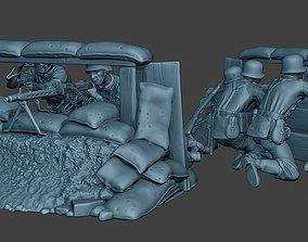 German soldier ww2 MG42 Group G7 3D print model
