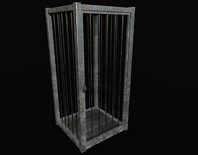 Old metal cage 3D model game-ready