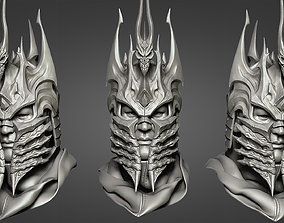 3D print model game-accessories Lich King - Helmet