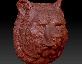 animals model the head of the bear 3D print model